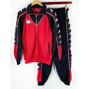 Kappa Mens Track Suit Size Med Red Black White